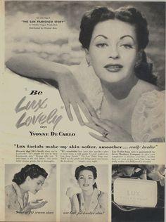 Yvonne De Carlo for LUX soap 1940s