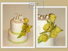 wedding tulip cake