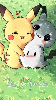 Pokemon - Pikachu And Mimikyu Pokemon Legal, O Pokemon, Pokemon Fan Art, Pokemon Fusion, Pokemon Eeveelutions, Bulbasaur, Pokemon Stuff, Pokemon Cards, Pikachu Pikachu