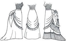 "Tournure Skirt Pattern, Multisized 29""-39"" Waist Wingeo http://www.amazon.com/dp/B002D9T9E4/ref=cm_sw_r_pi_dp_-Rwqvb1B2SC84"