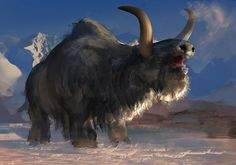 Snowsweeper.  Huge, yak-like beast that roams the tundra of both north and south continents.