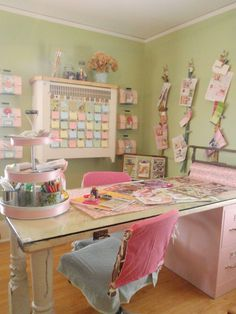 Old door turned worktable, pretty cool! Did this in my daughter's room - filing cabinet is from Walmart.