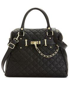 Steve Madden Handbag, Bparker Quilted Satchel - Steve Madden - Handbags & Accessories - Macy's