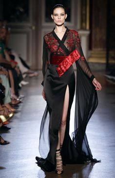 Zuhair Murad F2011-12 HC Japanese Kimono inspired fashion