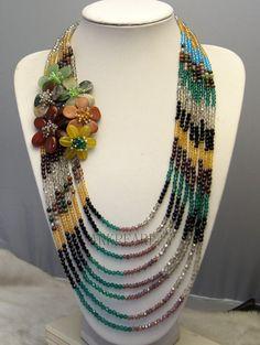 beadwork necklacebib necklacestatement by Arkpearl on Etsy, $45.00