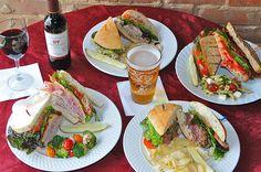 Dark City Deli & Pub - has gluten free options. (I'd probably just have a salad.)  122 Cherry Street, Black Mountain