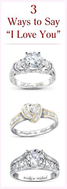 Those 3 special words are even more special delivered with a personalized romantic ring. Customize one for your sweetheart for free and create a lasting symbol of your love.