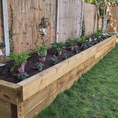 Raised Bed Garden Design, Flower Garden Design, Backyard Garden Design, Landscaping Design, Backyard Designs, Raised Planter Beds, Raised Flower Beds, Raised Beds, Flower Bed Designs