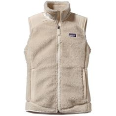 Patagonia Women's Retro-X Fleece Vest ($89) ❤ liked on Polyvore featuring outerwear, vests, jackets, tops, natural, patagonia vest, fleece vest, zip vest, vest waistcoat y pink vest