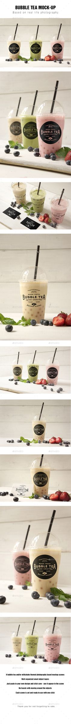 Bubble Tea Mockup. Download here: http://graphicriver.net/item/bubble-tea-mockup/16919519?ref=ksioks