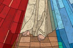 The Good Shepherd - Jesus La Passion Du Christ, The Good Shepherd, Divine Mercy, Quilting Tips, Stained Glass, Aurora Sleeping Beauty, Watercolor, Quilts, Painting