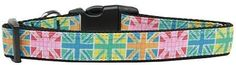 Multi Color UK Flag Nylon Collars