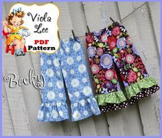 (9) Name: 'Sewing : Becky Ruffle Pants Pattern