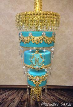 Chandelier Cake …