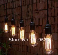 Vintage ligne de Edison suspendus lampes suspendues de l'ampoule pour Restaurant Club barres de coffe allument des lampes - verre avec l'ampoule pic de spectacle