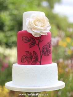one of my own wedding cake creations really pleased with this design if you