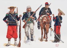 Mexican Army, Mexican American War, Military Art, Military History, Military Uniforms, Napoleon, Native American Models, Mexican Revolution, French Foreign Legion