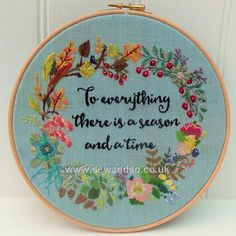 Shop online for Four Seasons Hoop Embroidery Pattern - DOWNLOAD ONLY at sewandso.co.uk. Browse our great range of cross stitch and needlecraft products, in stock, with great prices and fast delivery.