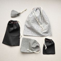 DIY drawstring gift bags via between the lines