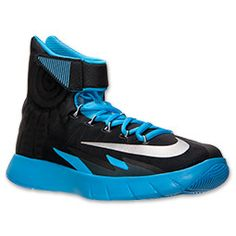 Men's Nike Zoom HyperRev Basketball Shoes  FinishLine.com   Black/Vivid Blue