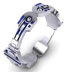 Droid Bangle by PaulMichaelDesign on Etsy, $650.00