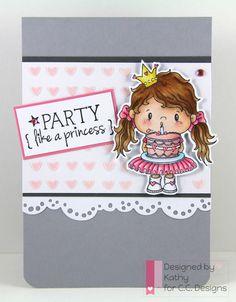 Princess, Pollycraft, CC Designs, Birthday Sentiments, heart stencil