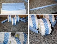 Maiden D'Shade: Tricycle Diaper Cake Tutorial