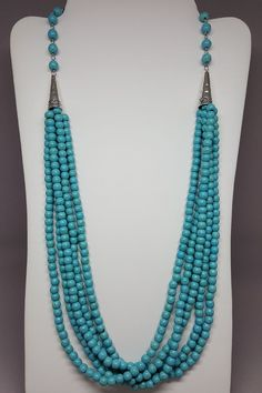 """Looking for color this Spring? Check out our 24"""" Turquoise Layered Beaded Necklace!  This necklace adds color to any outfit!  Perfect length to accent tunics and dresses!  Fast FREE Shipping! Shop:"""