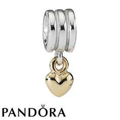 Pandora Gold Love Heart Charm 79826 #jewellerydesign