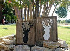 Hand Painted Rustic Wood Sign Buck/Deer by mangoseedmarketplace, $29.00