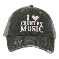 a7e969bb19c Katydid I Love Country Music Women s Trucker Hat -- Awesome products  selected by Anna Churchill