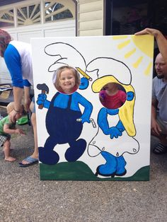 Smurf picture cut out made by me