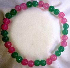 Rosenquarz Jade Heilstein Perlen Armband