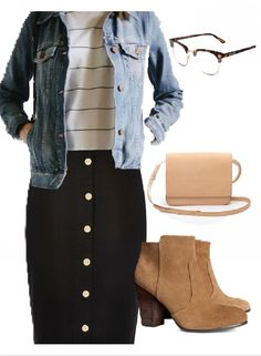 With brown pencil skirt - - With brown pencil skirt Source by - Dresses Ideas Black Pencil Skirt Outfit, Black Skirt Outfits, Skirt Outfits Modest, Pencil Skirt Casual, Modest Skirts, Casual Outfits, Cute Outfits, Pencil Skirts, Pencil Dresses