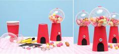 Der Kaugummiautomat ist ein Highlight auf jedem Geburtstagstisch. • Umsetzung und Fotos: Thordis Rüggeberg
