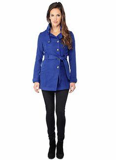 BB Dakota Official Store, Camelot Coat, limonges blue, Outerwear : Coats, JD30693