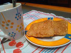 Recetas entulinea de Monetldf: Tortitas de plátano y salvado de trigo, muy saciantes dieta Entulínea