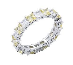 Diamond & Canary Eternity Band Ring --- waaaannnnt!!!!