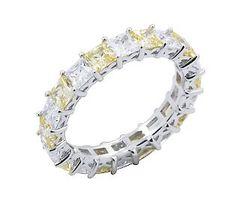 Diamond & Canary Eternity Band Ring --- waaaannnnt!!!!