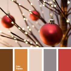 beige, chocolate, christmas palette, color matching, cream, gray color, house color schemes, new year color palette, orange color, orange-brown, red color, shades of brown.