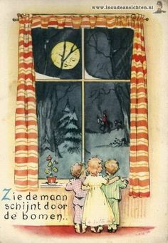 Zie de maan schijnt door de bomen,Makker staakt uw wildgeraas?.........lbxxx.