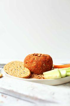 AMAZING Spicy Vegan Cheese Ball Perfect for the holidays #spicy #vegan #glutenfree #cheeseball #recipe #minimalistbaker