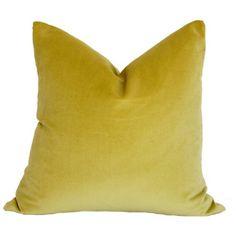 Fun pillows and fabrics for nursery....Honeydew Green Velvet