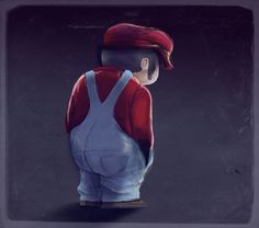 La depresion de Mario by headphones-plugged.deviantart.com