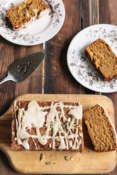 Pumpkin Bread with Maple Icing