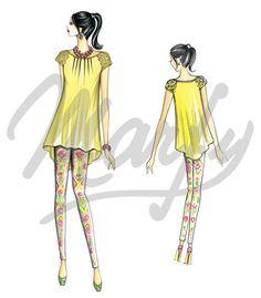 Sewing pattern blouse Sewing Pattern 3698 PDF