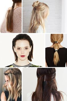A round-up of all of the best SIMPLE hair DIY's on Pinterest
