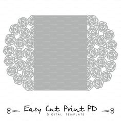 Wedding invitation Pattern Card 5x7 Template by EasyCutPrintPD
