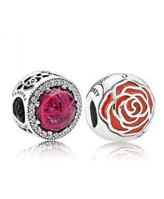 Pandora UK Belles Radiant Rose Cerise and Enchanted Rose