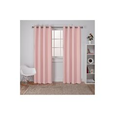 "Set of 2 Sateen Twill Weave Insulated Blackout Grommet Top Window Curtain Panels Pale Blush (52""x84"") - Exclusive Home"